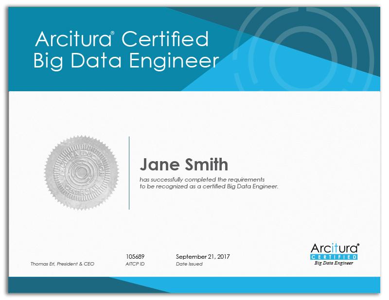 Big Data Engineer Certification Workshop Arcitura