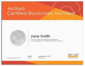 Arcitura Certified Blockchain Architect