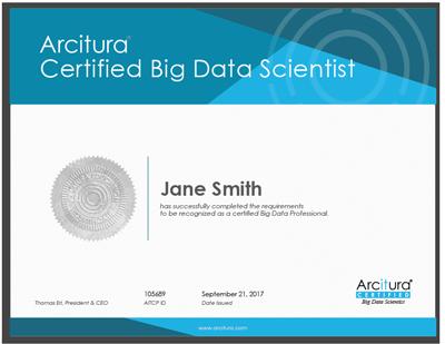 Big Data Scientist Certification Workshop   Arcitura