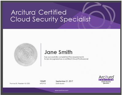 Cloud Security Specialist Certification Workshop | Arcitura